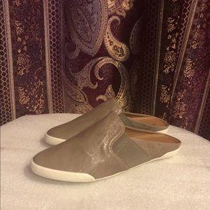 Frye Melanie Gore Mule, Leather, Grey (9)